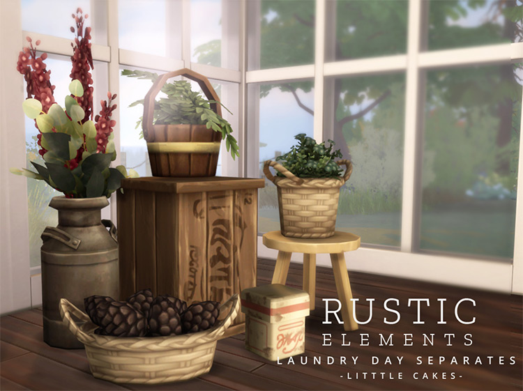 Rustic Elements CC for The Sims 4