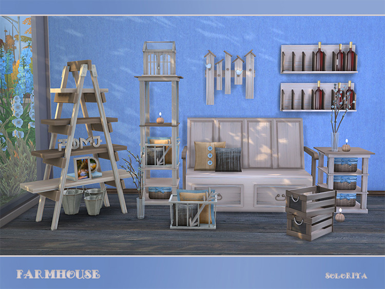 Farmhouse Furniture Set / TS4 CC