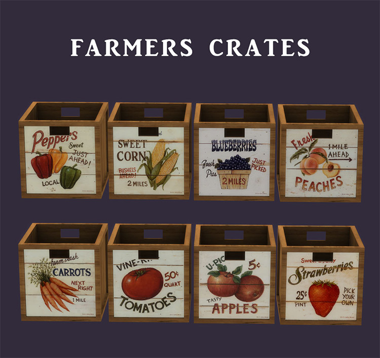 Farmers Crates / Sims 4 CC