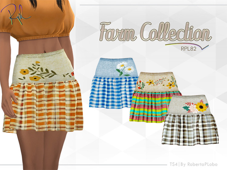 Farm Collection Skirt for The Sims 4