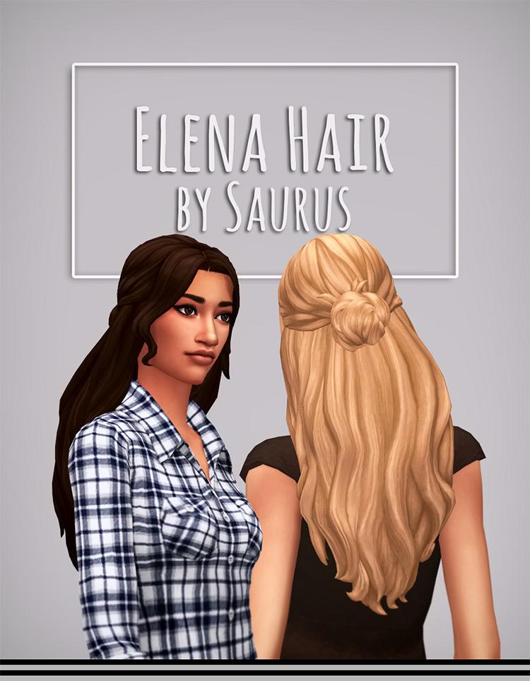 Elena Hair TS4 CC