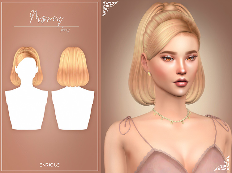 Money Hairstyle for Sims 4