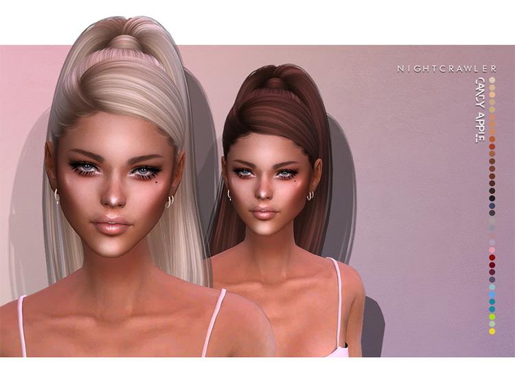 Candy Apple Hair Sims 4 CC