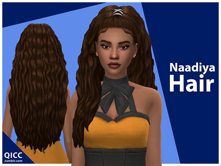 Naadiya Hair for Sims 4