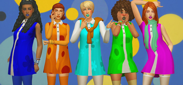1960s girls styles and patterns / Sims 4 CC