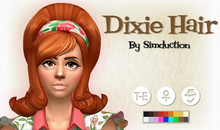 Dixie Hair for The Sims 4