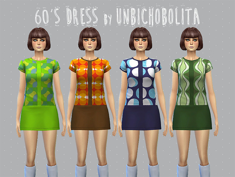 60's Dress Design for The Sims 4
