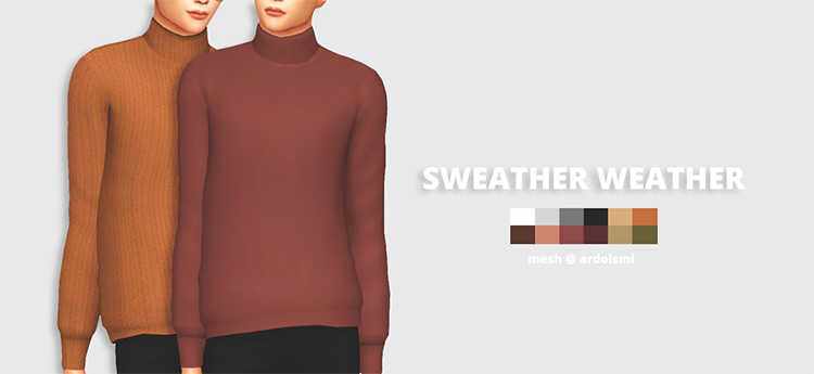 Sweater Weather Sweaters for The Sims 4