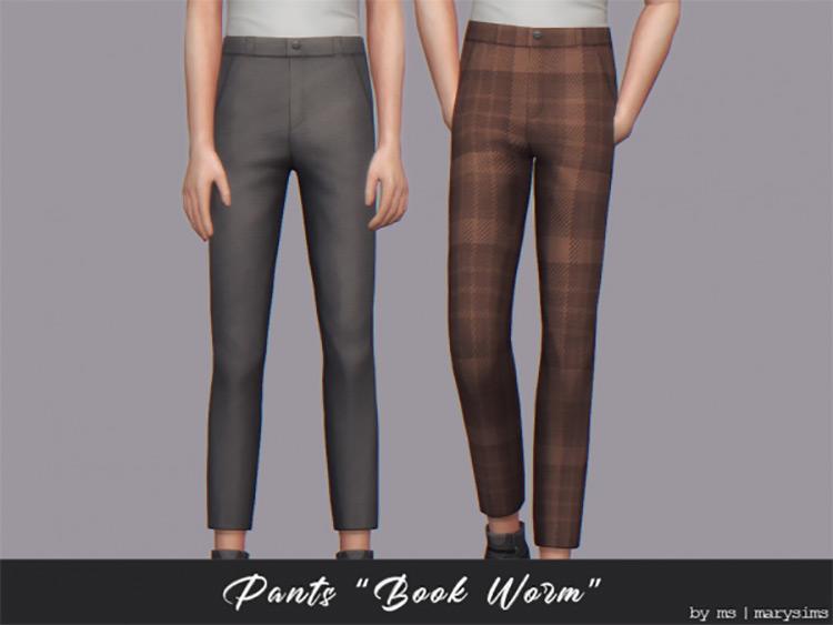 Bookworm Pants / Sims 4 CC