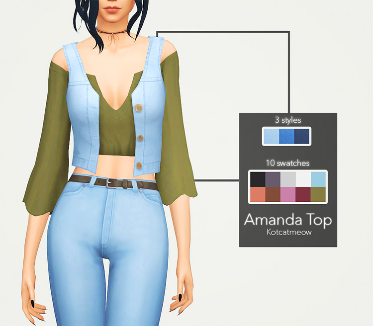 Amanda Top for The Sims 4