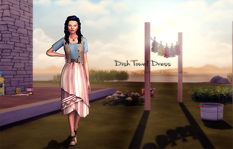 Dish Towel Dress / Sims 4 CC