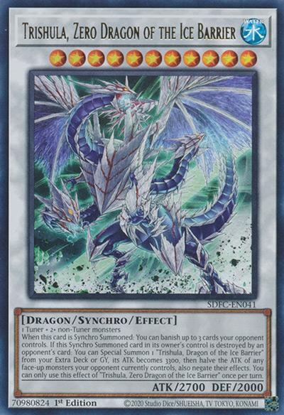 Trishula Dragon of the Ice Barrier Yu-Gi-Oh Card