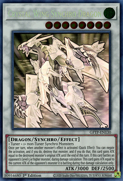 Crystal Wing Synchro Dragon YGO Card