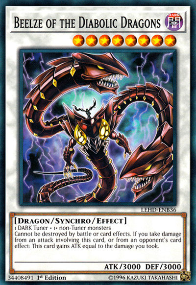 Beelze of the Diabolic Dragons Yu-Gi-Oh Card