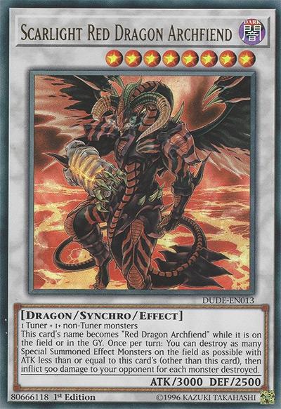 Scarlight Red Dragon Archfiend Yu-Gi-Oh Card