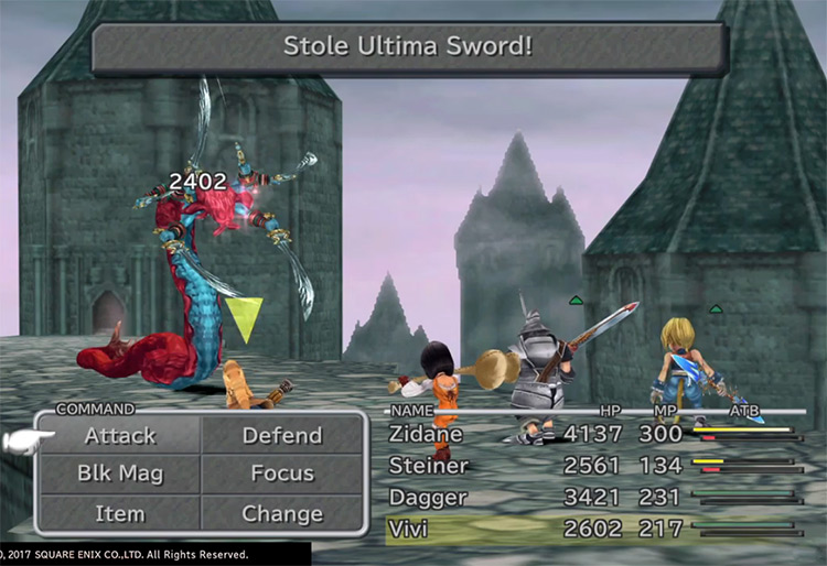 Ultima Sword Steal in FF9