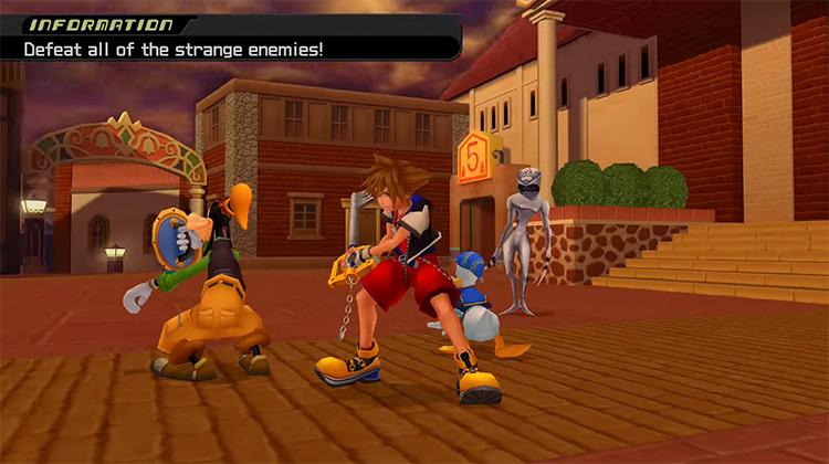 Twilight Town in Kingdom Hearts II HD