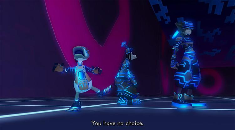 Space Paranoids in Kingdom Hearts II HD