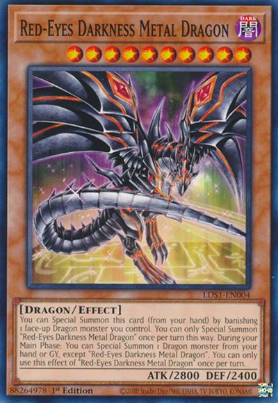 Red-Eyes Darkness Metal Dragon Yu-Gi-Oh Card
