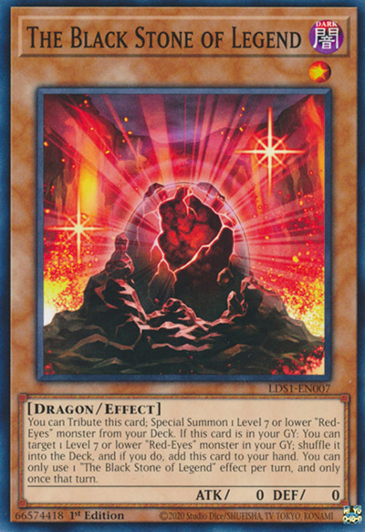 The Black Stone Of Legend YGO Card