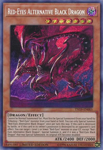 Red-Eyes Alternative Black Dragon YGO Card