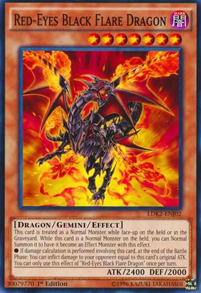 Red-Eyes Black Flare Dragon YGO Card