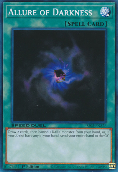 Allure Of Darkness Yu-Gi-Oh Card