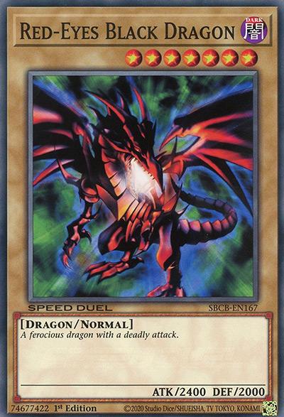 Red-Eyes Black Dragon YGO Card