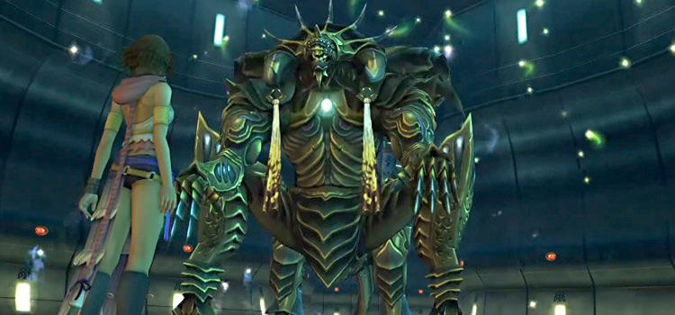 Paragon boss screenshot in FFX-2 HD