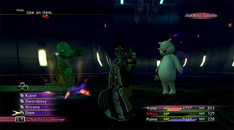 Trema boss in FFX-2 HD