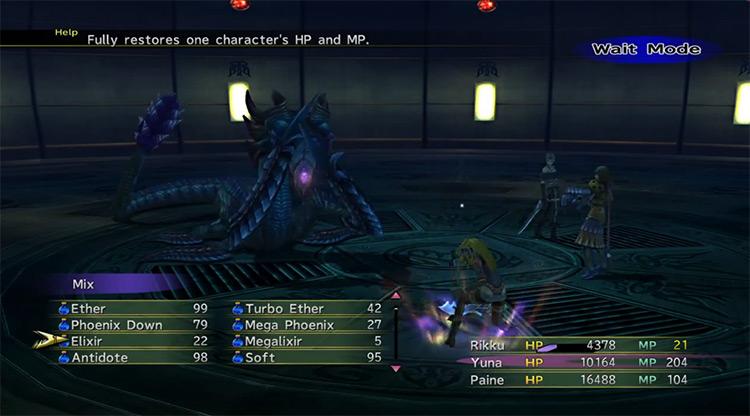 Chac FFX-2 boss battle screenshot