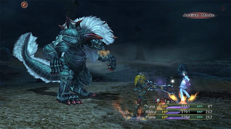 Humbaba boss in Final Fantasy X-2 HD