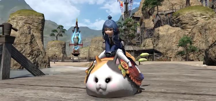 Fatter Cat Mount screenshot from FFXIV
