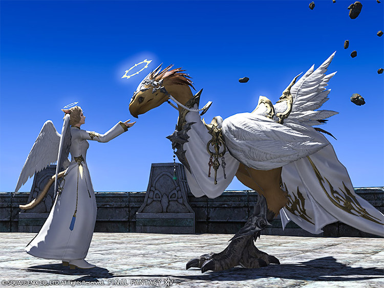 Angelic Barding addon for chocobos in FFXIV