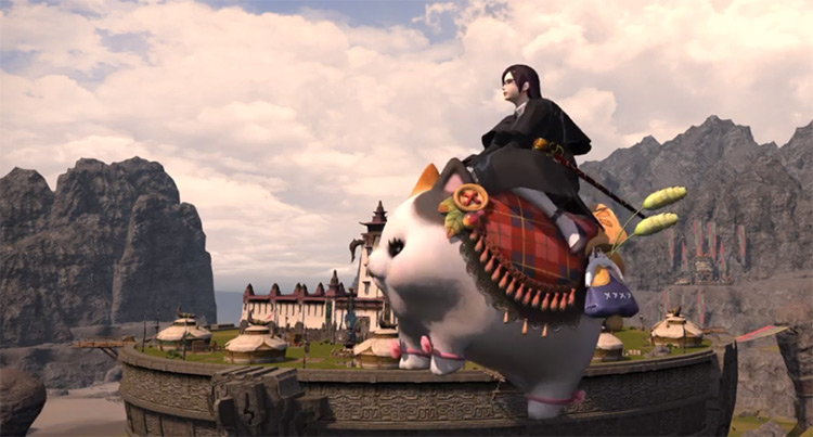 Fatter Cat mount in FFXIV