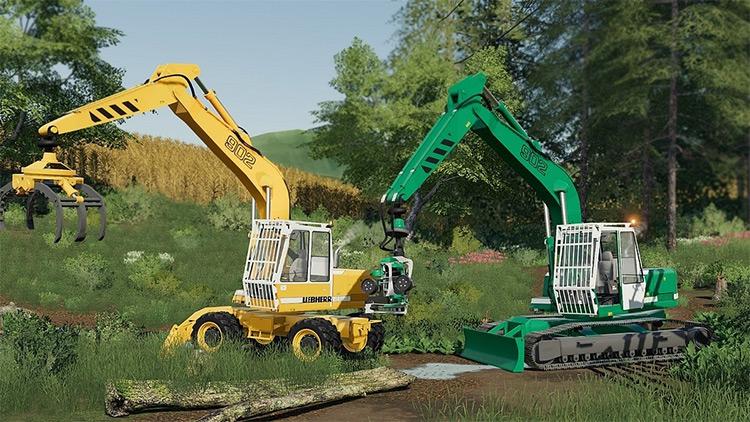 Excavator Liebherr 902 Modpack for FS19