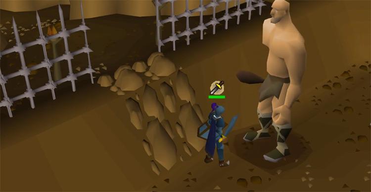 Obor giant boss battle screenshot from OSRS