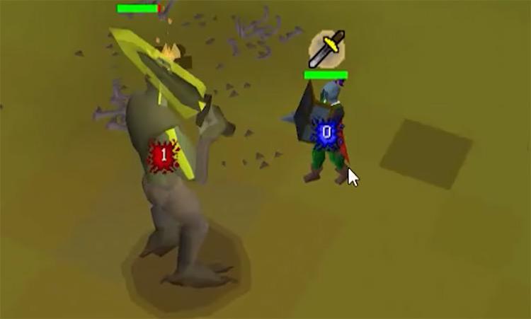 Bryophyta OSRS Boss battle screenshot