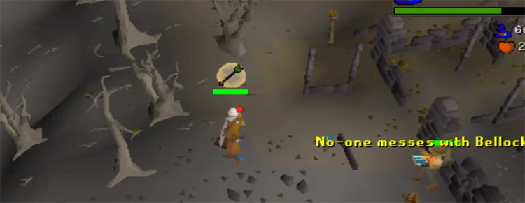 Crazy Archaeologist overhead screenshot from OSRS
