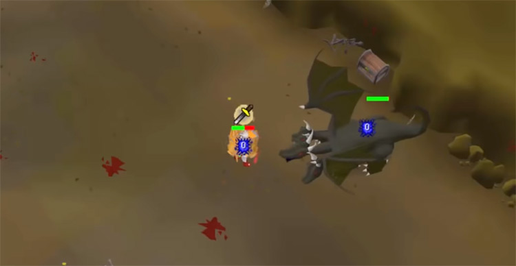 King Black Dragon boss battle in OSRS