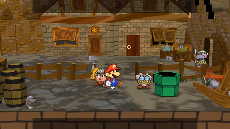 Paper Mario: The Thousand-Year Door gameplay screenshot
