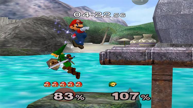 Super Smash Bros. Melee gameplay screenshot