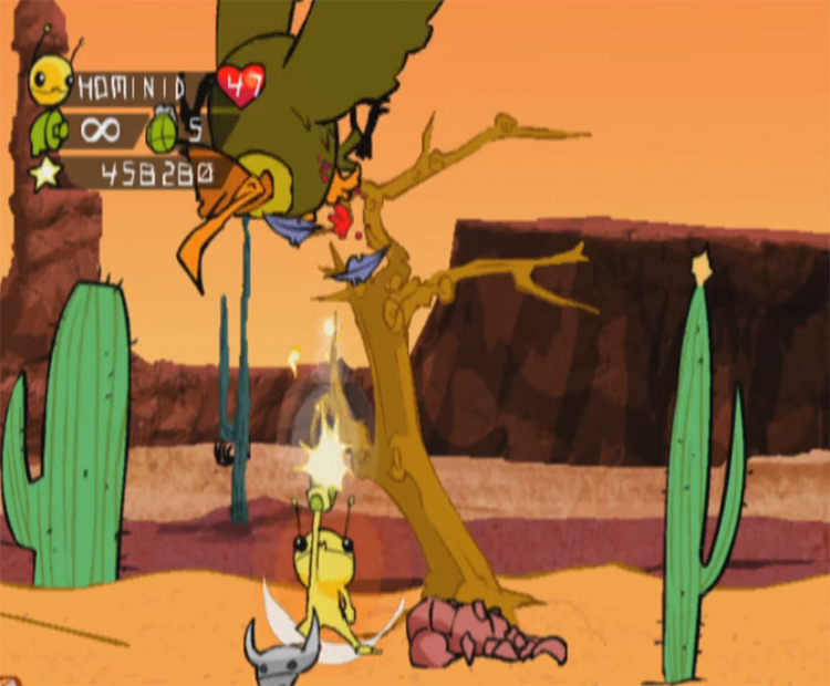 Alien Hominid GCN gameplay screenshot