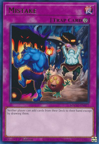 Mistake Yu-Gi-Oh Card