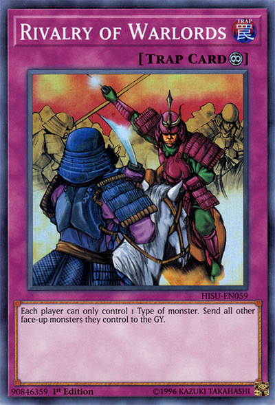 Rivalry of Warlords Yu-Gi-Oh Card