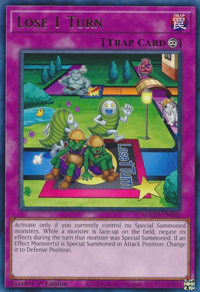 Lose 1 Turn YGO Card