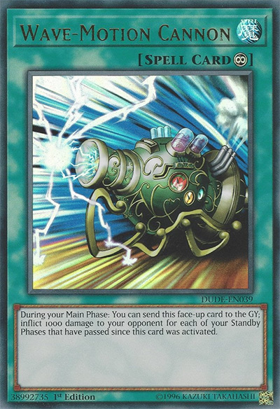 Wave-Motion Cannon YGO Card