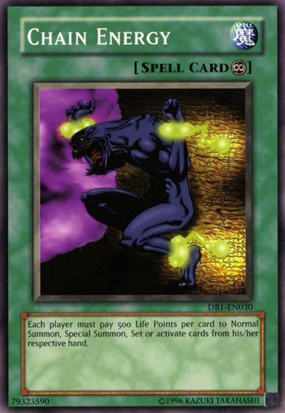 Chain Energy Yu-Gi-Oh Card