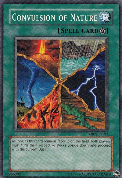 Convulsion of Nature YGO Card