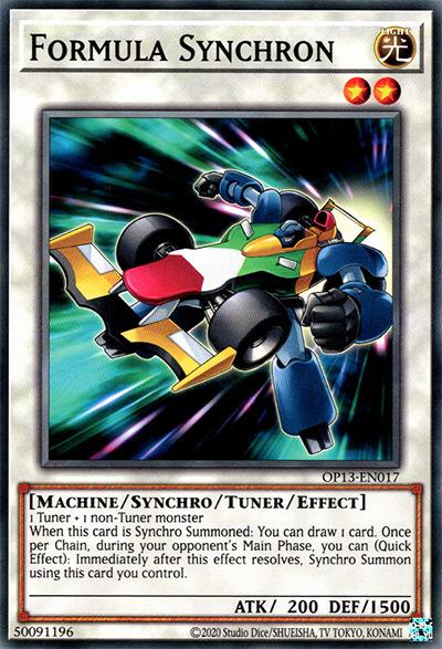 Formula Synchron Yu-Gi-Oh Card